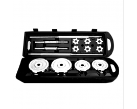 Hot sale household body building 50kg Adjustable Chromed Barbell Dumbbell Set With Plastic Case