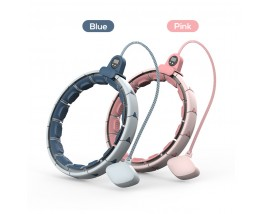 16 Setctions Free Adjustable 360 Degree Wrapped Waist Fat Burning Magnetic Therapy Massage Magnetic Hula Hoop With Counter