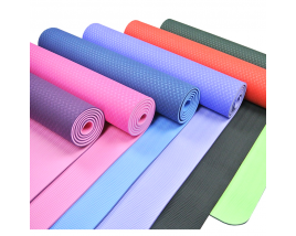 Hot sale 6mm Custom TPE Yoga Mat For Fitness Pilates Gym Exercise Sport Double Layer Eco Friendly Yoga Mats