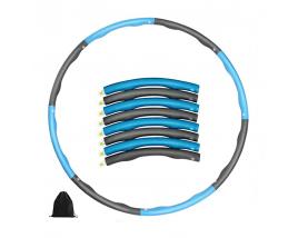 95CM 8 Setions Fitness Weighted Body Building Hoola Ring PP Hoola Hoop Foam Coated PP Hoola Hoop Ring