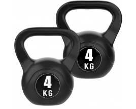 Fitness Gym Black Paint 4kg Cement Kettlebell In Weight Lifting