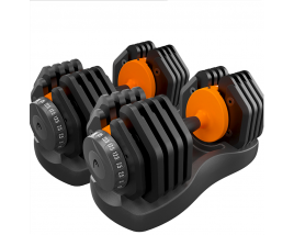 55LBS 25KGS Factory Fitness Adjustable Dumbbell WithTray Packing Quick-Change Adjustable Dumbbells
