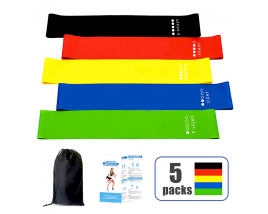 Wholesale 5 Colors Gym Fitness Rubber Yoga Bands Loop Latex Home Elastic Resistance Band Set with logo
