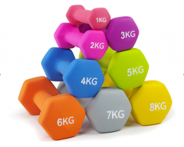 10KGS Cast Iron Rubber Coated Round-Head Anti-Rolling Dumbbell Weight Lifting For Muscle Bodybuilding