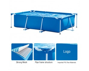 28272 PVC Easy Set Rectangular Metal Frame Above Ground Family Outdoor Large Inflatable Swimming Pool