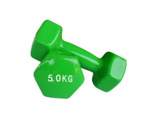 Anti-slip Grip Handle Fast Delivery Hexagonal Hex Rubber Dipping Dumbbell For Aanti-slip Grip BS Shoulders1KGS 1.5 KGS 2KGS 3KGS