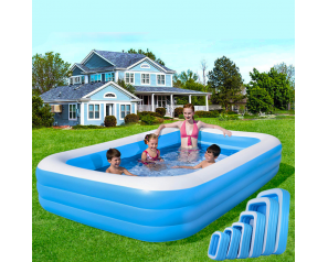 Outdoor Family Entertainment Water Park 150MM PVC Inflatable Plastic Rectangle Swimming Pool For Playing