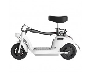 Folding Lifting Two Wheel Portable Alumimum Alloy White Seat Electric Scooter For Adults