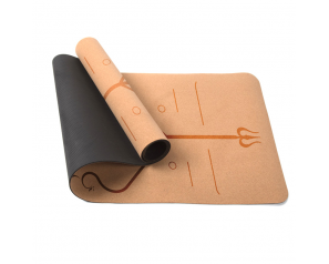 Soft Custom 5mm Cork Yoga Mat Yoga Pilates Pad Anti-slip Exercise Fitness Eco Friendly Yoga Mat with Position Line