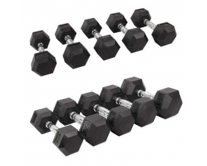 Dumbbell 30KGS Cast Iron Hex Dumbbell 25KGS 30KGS With Rich Stock For Weight Lifting