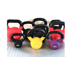 Gym Fitness Colorful Vinyl Adjustable Kettlebell Handle Cast Iron Dipping Dip Kettlebell