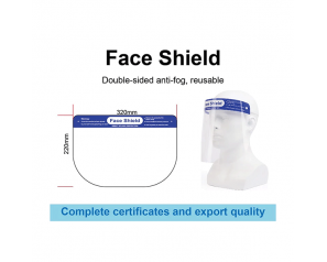 Anti Fog Fluid Resistant Full Cover Face Shield