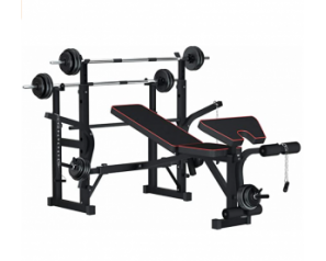 Multi-Function Foldable Weight Bench and Fitness Barbell Rack Weight Lifting Support