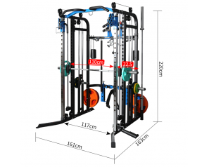 Multifunctional 161*163*220cm Customized Sports Fitness Commercial Gym Equipment