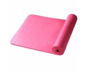 Private Label 10MM NBR Yoga Mat Fitness and Exercise Rubber Yoga Mats with Carrier Strap