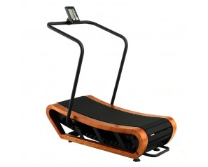 Commercial Gym Equipment Wood Unpowered Treadmills Wooden Manual Curve Treadmill