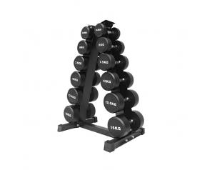 Wholesale Dumbbell Set Rack For Hex neoprene Round Dumbbells Safety Design Triangle Dumbbell Rack