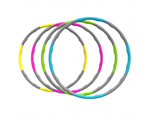 Wholesale Hoola Ring Fitness Gym Detachable Hoop Soft Adjustable 8 Sections Hula-Hoops Ring