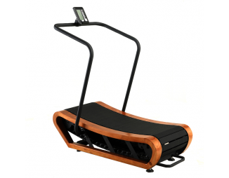Home Gym Wooden Mechanical Treadmill For Bodybuilding